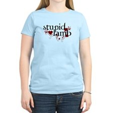 stupid lamb floral T-Shirt