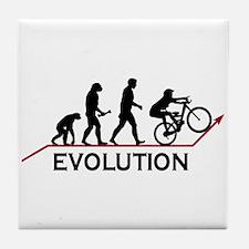 Mountain Bike Evolution Tile Coaster