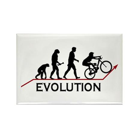 Mountain Bike Evolution Rectangle Magnet