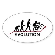 Mountain Bike Evolution Oval Decal