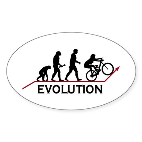 Mountain Bike Evolution Oval Sticker