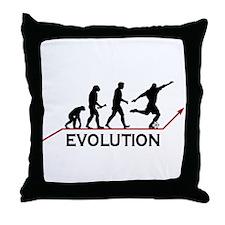 Soccer Evolution Throw Pillow