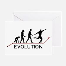 Soccer Evolution Greeting Card
