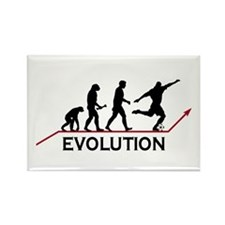 Soccer Evolution Rectangle Magnet