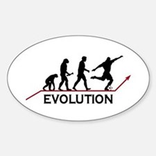 Soccer Evolution Oval Decal