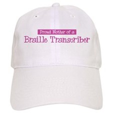 Proud Mother of Braille Trans Baseball Cap