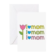 I LOVE MOM - Greeting Card