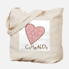 I Love Caffeine (pink) Tote Bag