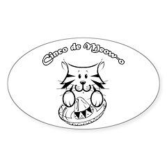 Cinco de Meow-o Oval Sticker (10 pk)