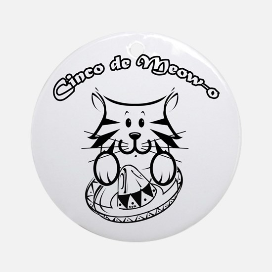Cinco de Meow-o Ornament (Round)