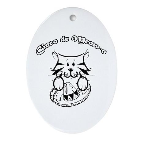 Cinco de Meow-o Oval Ornament