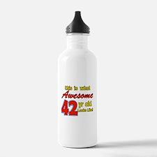 42nd birthday design Water Bottle