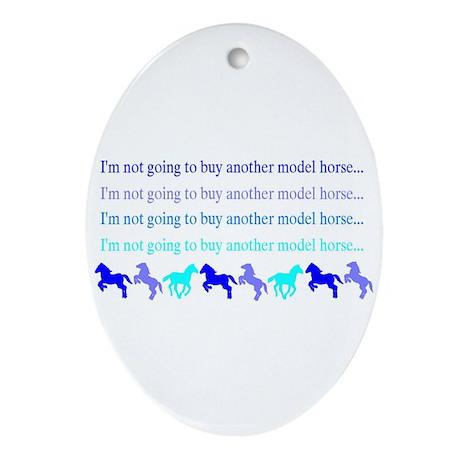 Model Horse Shopper Oval Ornament