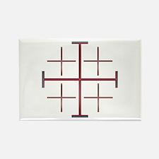 Cute Jerusalem cross Rectangle Magnet