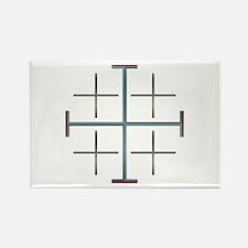 Unique Jerusalem cross Rectangle Magnet