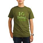 I Love Being Green Organic Men's T-Shirt (dark)