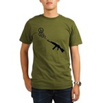 Peace Gun Organic Men's T-Shirt (dark)