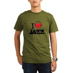 I love jazz Organic Men's T-Shirt (dark)