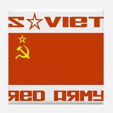 Soviet Red Army Flag Tile Coaster