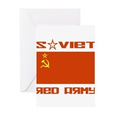 Soviet Red Army Flag Greeting Card