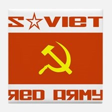 Soviet Red Army Hammer & Sickle Tile Coaster