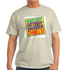 Action-Packed Thrills Ash Grey T-Shirt