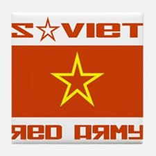 Soviet Red Army Star Tile Coaster