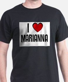 I LOVE MARIANNA Black T-Shirt