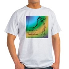Llamatude Cool Rain Ash Grey T-Shirt