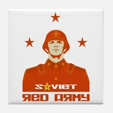 Soviet Red Army Soldier Tile Coaster