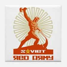 Soviet Red Army Sculpture Tile Coaster