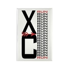 XC Run Rectangle Magnet