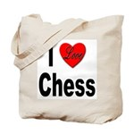 I Love Chess Tote Bag