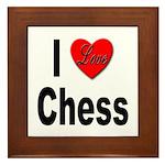 I Love Chess Framed Tile
