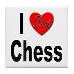 I Love Chess Tile Coaster