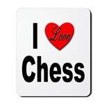 I Love Chess Mousepad