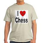 I Love Chess (Front) Ash Grey T-Shirt