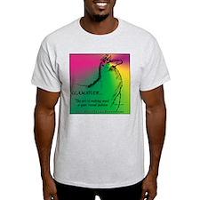 Llamatude Radial Ash Grey T-Shirt
