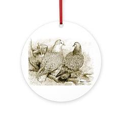 Frillback Pigeons Ornament (Round)