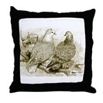 Frillback Pigeons Throw Pillow