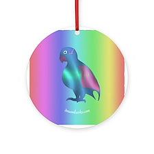 Blue Parrot Ornament (Round)