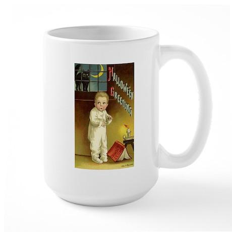 Vintage Halloween Greetings Large Mug