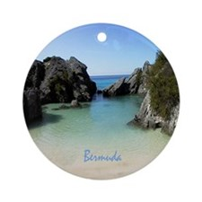 Bermuda Beach Cove - Holiday Ornament Round
