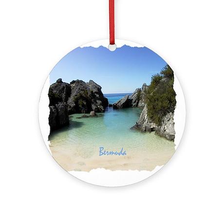 Bermuda Beach Cove - Holiday Ornament Round
