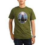 Christmas Peace Organic Men's T-Shirt (dark)