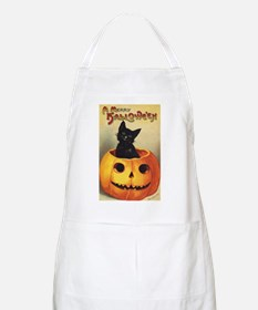 Vintage Halloween, Cute Black Cat Apron