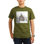 Rhino with an Attitude Organic Men's T-Shirt (dark