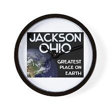 jackson ohio - greatest place on earth Wall Clock