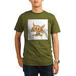 Baby Fox Organic Men's T-Shirt (dark)