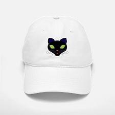 Night Cat Vector Baseball Baseball Cap